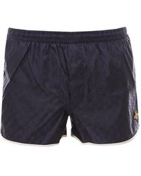 Gucci Bee Embroidered Swim Shorts - Blue
