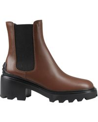 Tod's Lug-sole Chelsea Boots - Brown