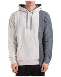 Marcelo Burlon Men's Hoodie Sweatshirt Sweat Tie-dye - Grey