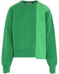 Ambush Logo Panelled Sweatshirt - Green
