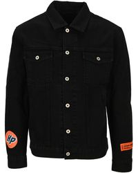 Heron Preston Logo Patch Denim Jacket - Black