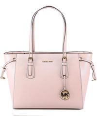 2c1711ad8c5380 Michael Michael Kors Voyager Leather Tote Bag in Pink - Lyst