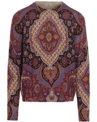 Etro Paislet Printed Knit Sweater - Multicolor