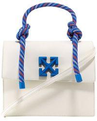 Off-White c/o Virgil Abloh Jitney 2.8 Leather Shoulder Bag - White