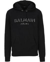 Balmain 3d Logo Hoodie - Black