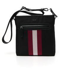 Bally Currios Striped Messenger Bag - Black