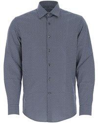 Ferragamo Foliage Printed Shirt - Blue