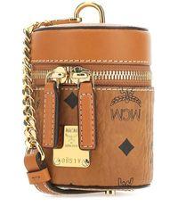MCM Visetos Cylinder Crossbody Bag - Brown