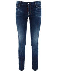 DSquared² Jennifer Cropped Jeans - Blue