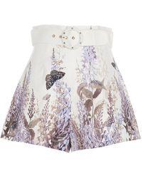 Zimmermann Luminous Belted Shorts - Multicolour