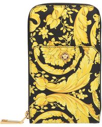 Versace Barocco Strapped Wallet - Yellow
