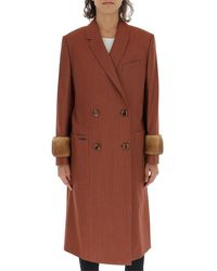 Fendi Double Breasted Trench Coat - Brown