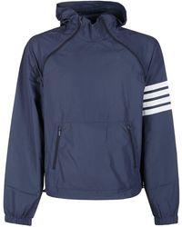 Thom Browne 4-bar Stripe Hoodie - Blue