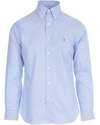 Polo Ralph Lauren Classic Striped Shirt - Blue