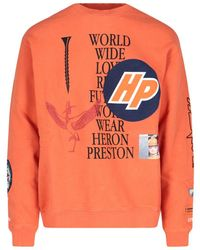 Heron Preston Graphic Print Sweatshirt - Orange