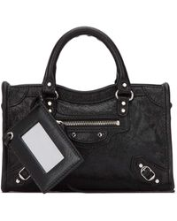 Balenciaga Classic City Nano Tote Bag - Black