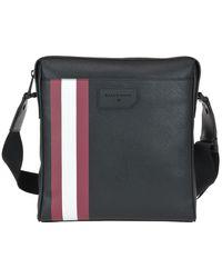 Bally Skill Striped Messenger Bag - Black