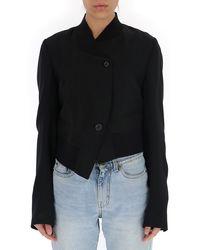 Ann Demeulemeester Asymmetric Single-breasted Blazer - Black