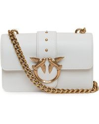 Pinko Love Mini Icon Simply Crossbody Bag - White