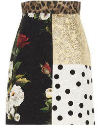 Dolce & Gabbana Patchwork High-waisted Skirt - Multicolour