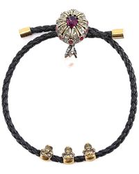 Alexander McQueen - Skull Embellished Bracelet - Lyst