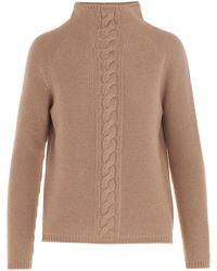 Max Mara Turtleneck Sweater - Natural