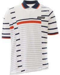Martine Rose Striped Polo Shirt - White