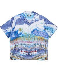 Amiri Tie-dye Silk Shirt - Blue