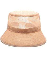 RED Valentino Redvalentino Net Mesh Bucket Hat - Pink