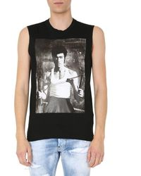 DSquared² Cotton Top With Bruce Lee Print - Black