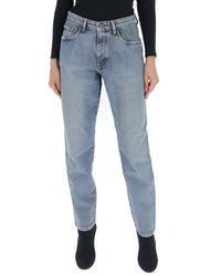 Miu Miu High-waisted Boyfriend Jeans - Blue