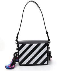 Off-White c/o Virgil Abloh Diagonal Front-flap Shoulder Bag - Black