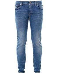 Dolce & Gabbana Logo Detail Jeans - Blue