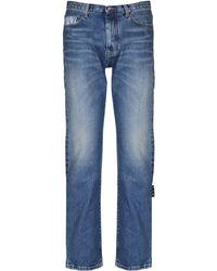 Off-White c/o Virgil Abloh Bandana Print Slim-fit Jeans - Blue