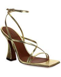 L'Autre Chose Strappy Sandals - Metallic