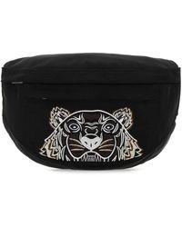 KENZO Black Fabric Belt Bag