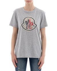 Moncler - Logo Cotton Jersey T-shirt - Lyst
