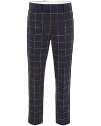 CALVIN KLEIN 205W39NYC Checked Trousers - Blue