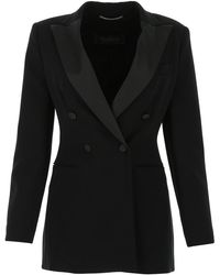 Max Mara Lolly Tailored Blazer - Black