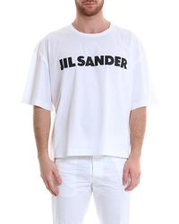 Jil Sander - Logo Loose Fit T-shirt - Lyst