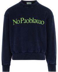 Aries No Problemo Acid Sweatshirt - Blue