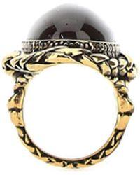 Alexander McQueen Stone Ring - Metallic