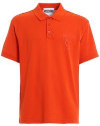 Moschino Red Cotton Logo Polo