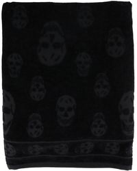 Alexander McQueen - Skull-embroidered Beach Towel - Lyst