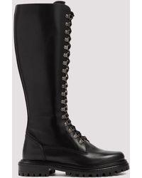 Aquazzura Combat Lace-up Boots - Black