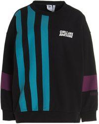 adidas Originals X Girls Are Awesome Stripe Detail Sweatshirt - Black