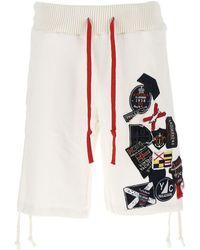 Greg Lauren X Paul & Shark Bermuda Shorts - White