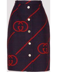 Gucci - Interlocking G Print Skirt - Lyst