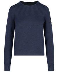 Canada Goose Elmvale Crewneck Knit Sweater - Blue