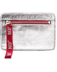 RED Valentino Redvalentino Joy2go Zipped Wallet - Metallic
